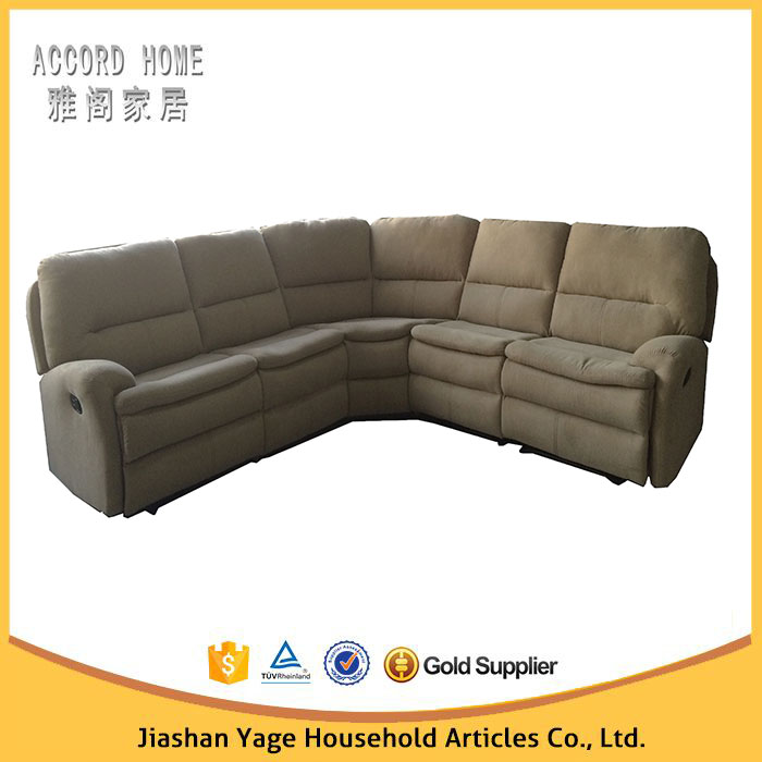 Jiaxing furniture middle east style sofa cheap l shape fabric electric recliner sofa