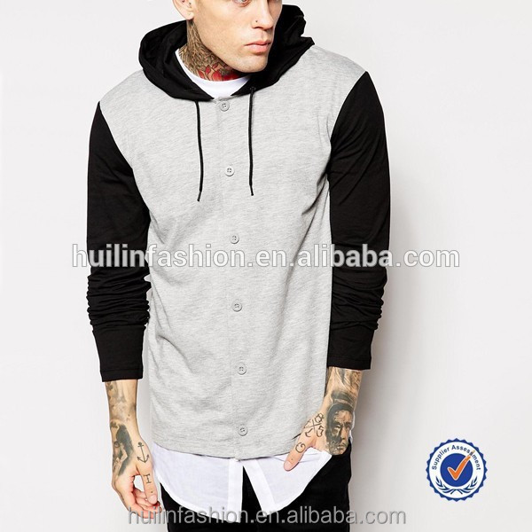 Fashion Man Clothing Wholesale Mens Longline Tall Hoodies With ...
