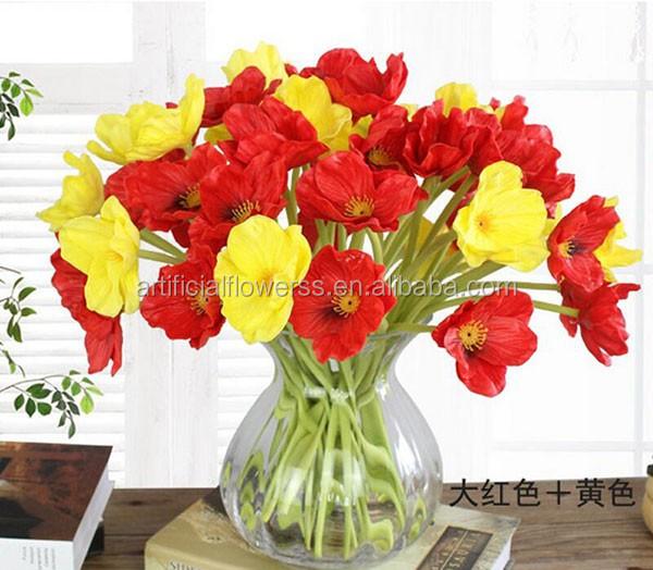 Decorative artificial plastic poppy flowers mini poppy flower buy decorative artificial plastic poppy flowers mini poppy flower mightylinksfo Images