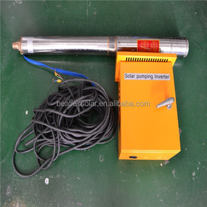 Energy Saving Kit Solar Submersible Pump With Three Phase Inverter