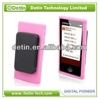 New Design Soft Silicone case for iPod nano 7 with clip