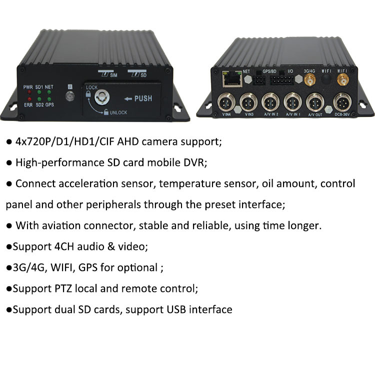 2019 חדש HDD הנייד DVR חסין אש עמיד למים רכב קופסא שחורה מקליט עבור אוטובוס מונית מצלמה מערכת