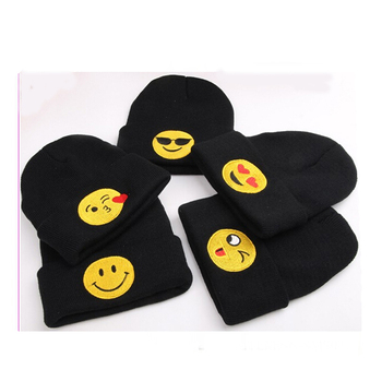 26a6895373aa3 Cute Kids Emoji Beanies Winter Warm Knitted Hat - Buy Emoji ...