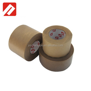 Plant compound adhesive can printing Logo Reinforced Wet water kraft paper gummed tape