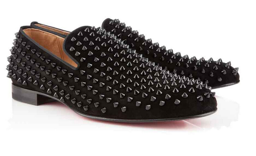 Buy Men Women Loafer Shoes Rollerboy Spikes Flat Red Soles Studded
