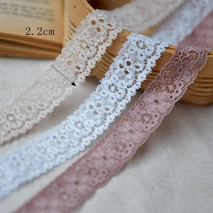 wholesale high quality 100% cotton lace embroidery fabric lace trimming