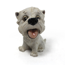 small life size resin poodle dog statue figurines