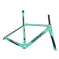 Wholesale OEM Top-Rated Full Carbon Road Bike/Bicycle Frameset In Bianchi Blue