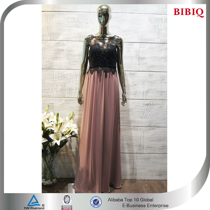 Color Block Evening Dress Contrast Two Color Dress Color ...