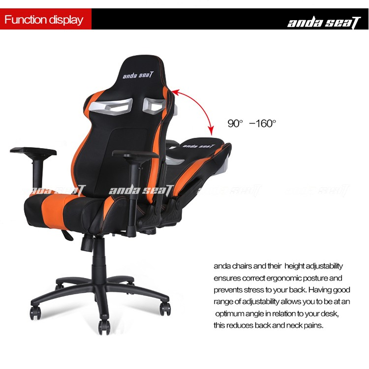 reclining racing seat style gaming chair raing computer gamer office chair ad33