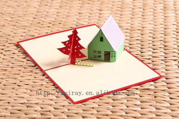 laser cut 3d pop up weihnachtskarten handgemachte weihnachtskarten baum nachgemachte. Black Bedroom Furniture Sets. Home Design Ideas