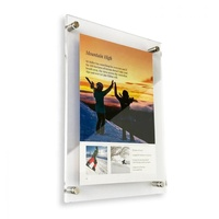 Custom Clear Acrylic Floating Picture Poster Frame