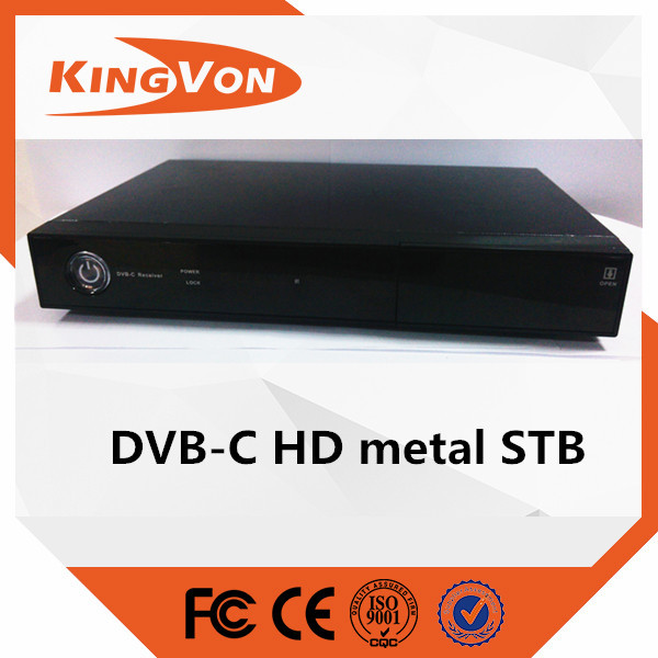digitaltv cable hd receiver with free SMS+CAS from kingvon company