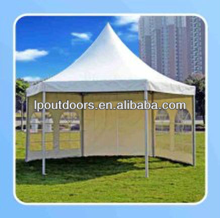 Hexagon pagoda wedding party garden marquee