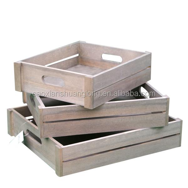 oem hecho a mano barato de madera para frutas y verduras al por mayor cajas
