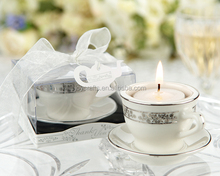 Wedding Return Gifts Teacups and Tealights Miniature Porcelain Tealight Candle