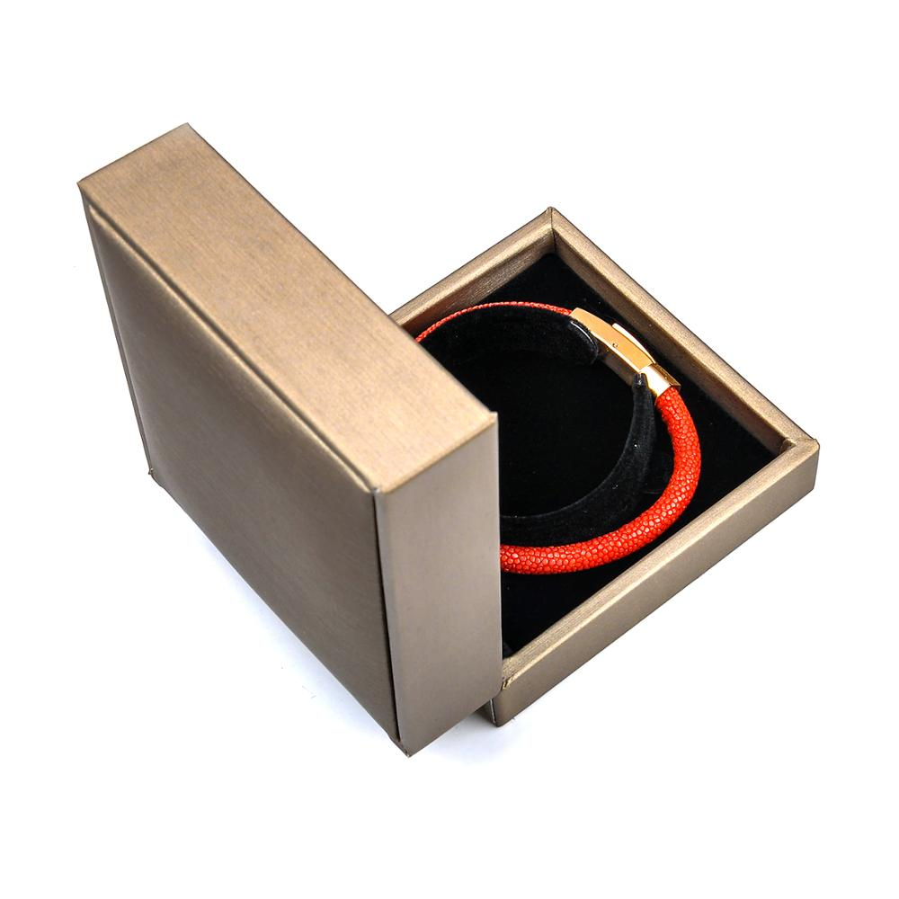 Chian Wholesale Packaging Custom Luxury PU Leather Bangle Bracelet Jewelry Box