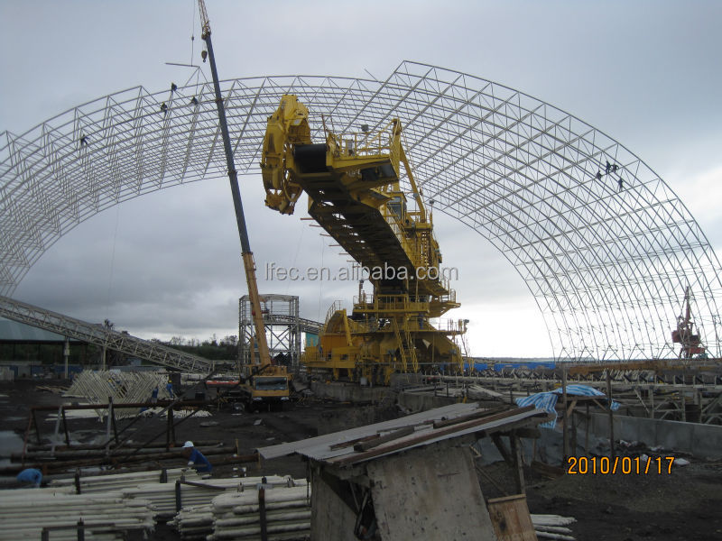 China LF 2016 Hot Galvanized Steel Space Frame Coal Shed