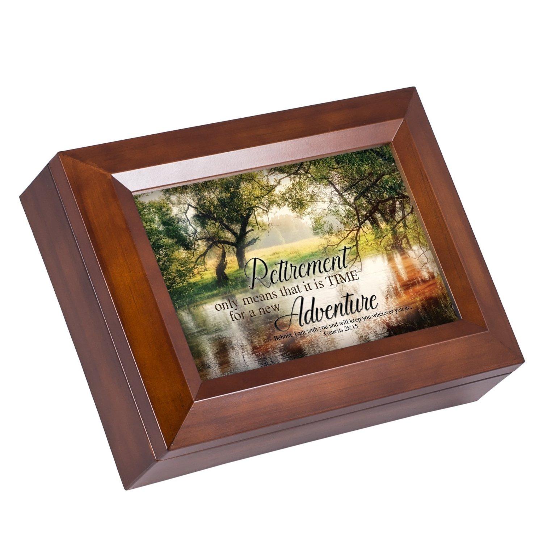Buy Retirement New Adventure Christian Wood Finish Jewelry Music Box ...