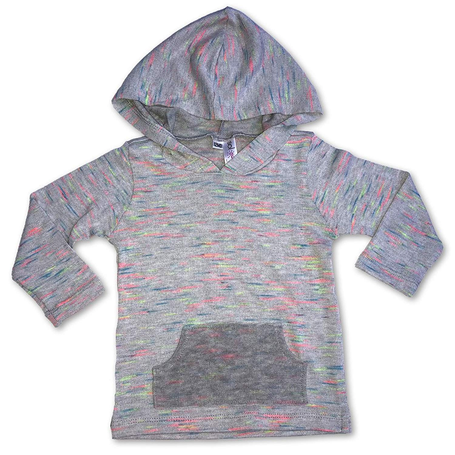 Sol Baby Infant//Toddler French Terry//Aqua Serape Baja Pullover Hoodie