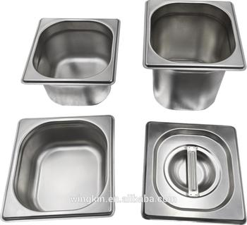 American Style Square Stainless Steel Food Storage Containers