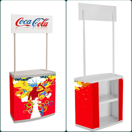 Plastik Promosi Counter/Pop Up Table/Pop Up Counter