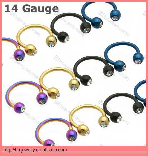 Double Gem Titanium Horseshoe 14g Piercing Jewelry Rings Lip Rings Nose Ring Buy Titanium Horseshoe 14g Horseshoe Horseshoe Piercing Product On Alibaba Com