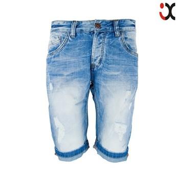 2015 azul estilo pantalones de cinco hombres cortos clásico corto denim los de vaqueros bolsillo jeans rRqqWnxU