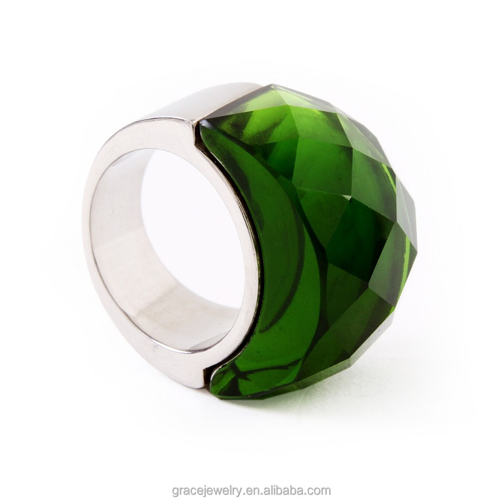 Best Sterling Silver Green Gem Indonesia Ring