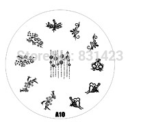 2015 new A Series A10 Nail Art Polish DIY Stamping Plates Image Templates Nail Stamp Stencil