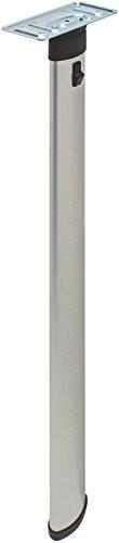 "Folding Table Leg, Elliptical by Hafele, aluminum, silver, 27 1/2"""