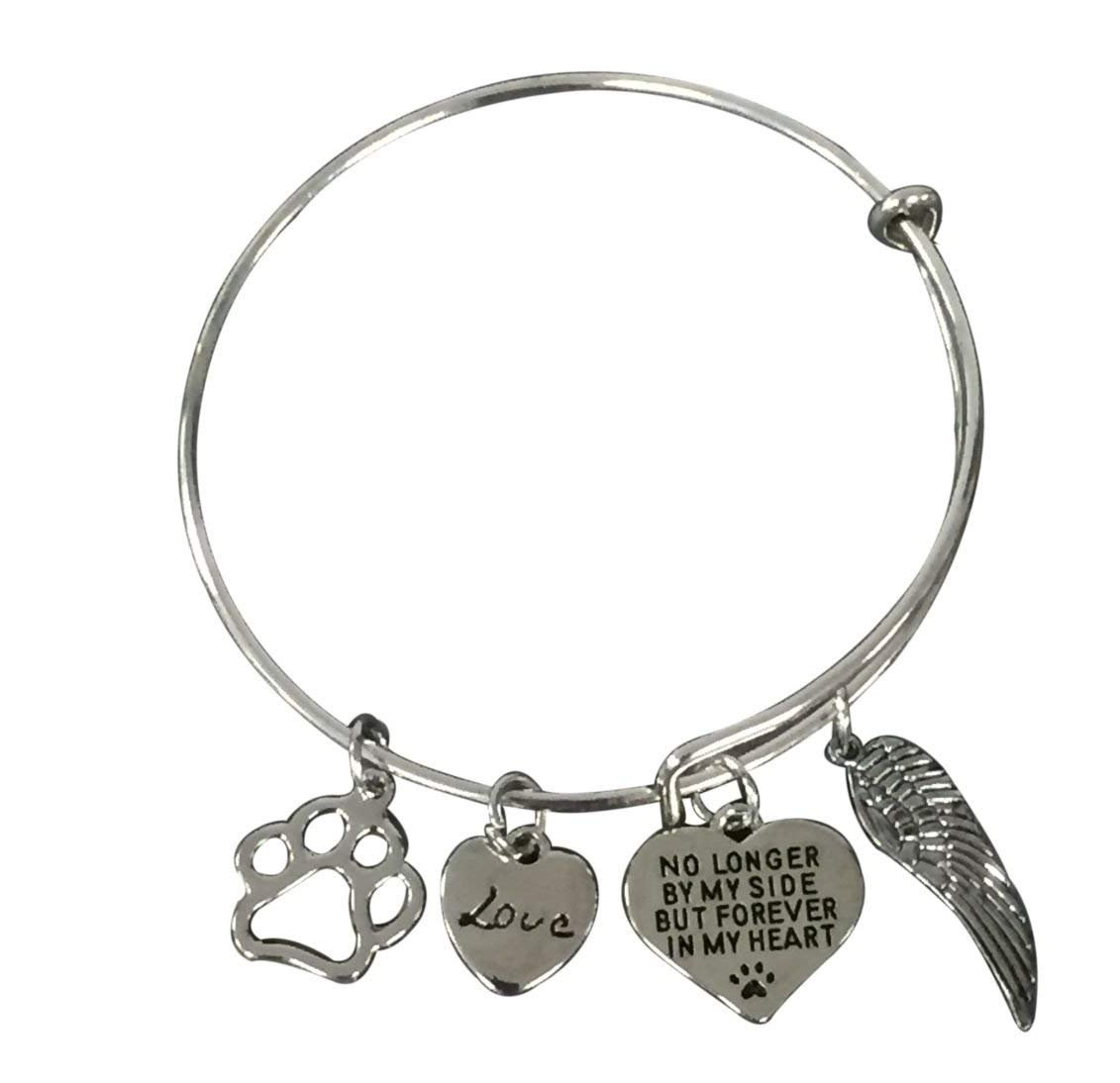 9d206c545 Get Quotations · Infinity Collection Dog Memorial Jewelry, Dog Charm  Bracelet - Paw Print Jewelry- Dog Lovers