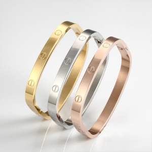 SJ Jewelry Manufacturer SJTL3034 Costume Decoration Stainless Steel Personalized Bangle for Male&Female 3 Colors Option