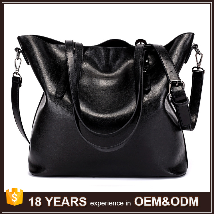 Amazon Top Selling Personalized Women's Large PU Leather Tote Bags Wholesale