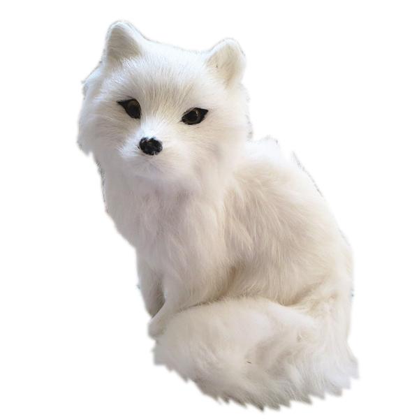 фото игрушек белой лисы купить реалистичную силиконовую