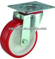 European type high impact polyurethane PU fixed industrial casters, stainless steel