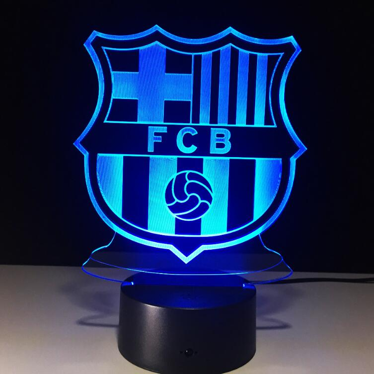 hot sale online 0a8e7 55511 Fantastic gift FCB 3d light,football club led lights,best selling 2018  world cup 3d light lamp