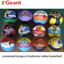 promotion size 5# basketball rubber basketball