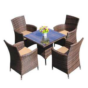 rattan dining set garden furniture chairs table