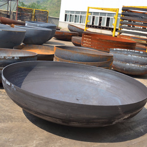 Propane tank heads for sale metal sphere steel sphere dish head pressing  and flanging machine