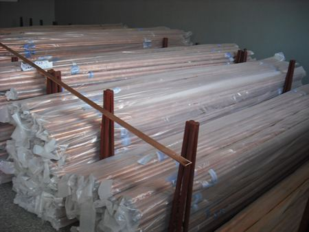 Straight copper pipe TP2 C12200  pure pipe China factory