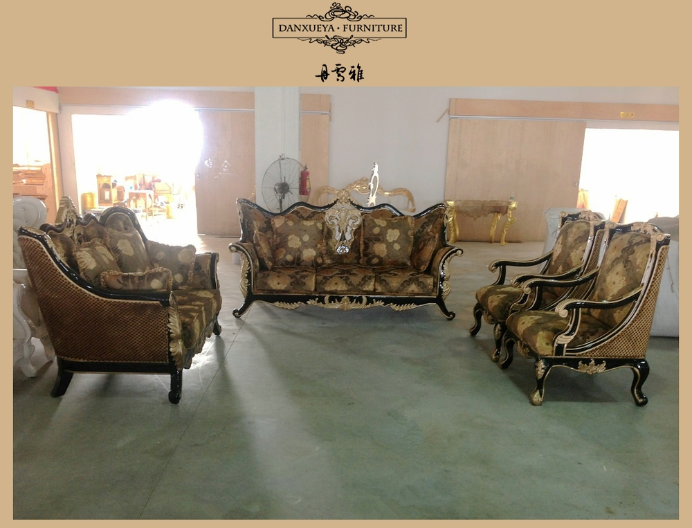 Arabic Living Room Furniture Sofa Indian Carved Wood Furniture Royal