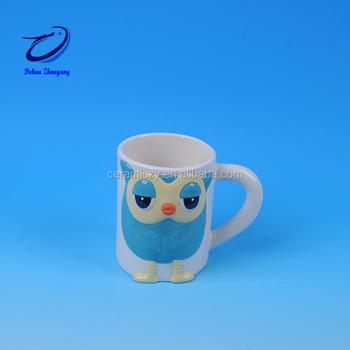 3d Hayvan Aslan Kafası Seramik Kahve Kupa Boyama Için Su Bardağı çay