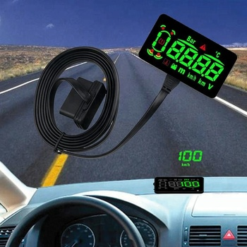 Car HUD Head Up Display Car Alarm System OBD2 EUOBD Interface Overspeed Warning Automobile Windshield Project Car-styling