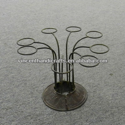 Simple design metal candle holder for 8 tealight