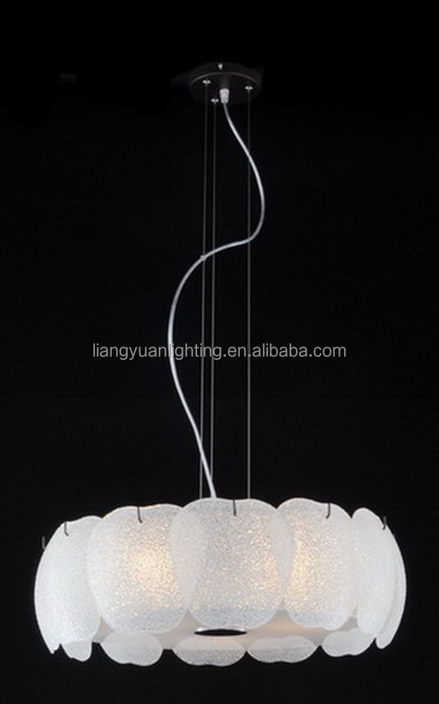Contemporary sanded white glass Pendant light for dining room