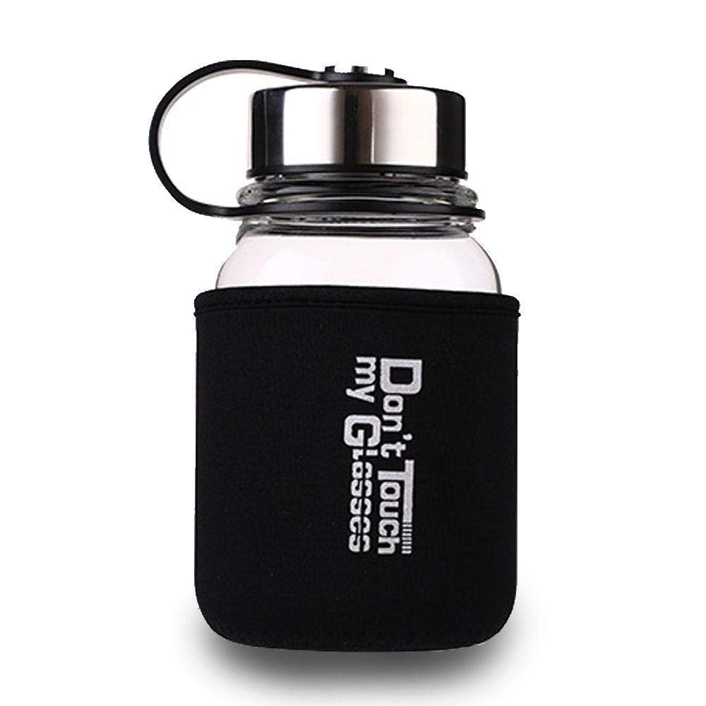 32e6ebeedd Get Quotations · AOLVO Borosilicate Glass Water Bottle Neoprene Sleeve,  700ml/24 oz Sports Infuser Water Tea