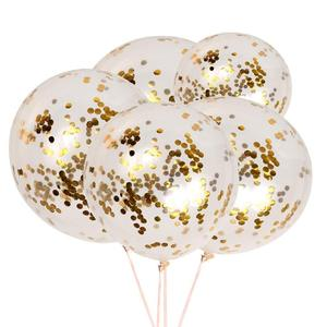 12 Inch Gold Latex Confetti Balloons For Wedding Celebration
