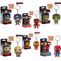 Marvel Avengers Captain America FUNKO Pocket POP Keychain deadpool Iron Man Hulk Thor PVC Action Figure