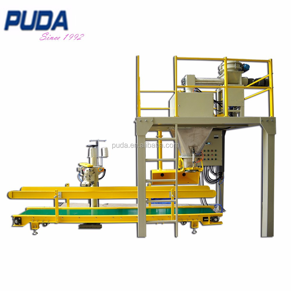 25kg PP bag granule packaging sewing conveyor system